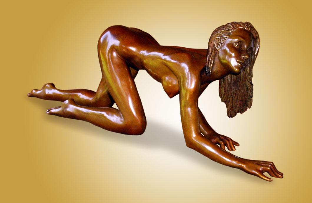 Secrète Menace sculpture en bronze