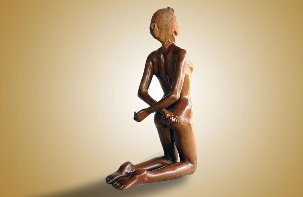 La Fausse Captive sculpture en bronze
