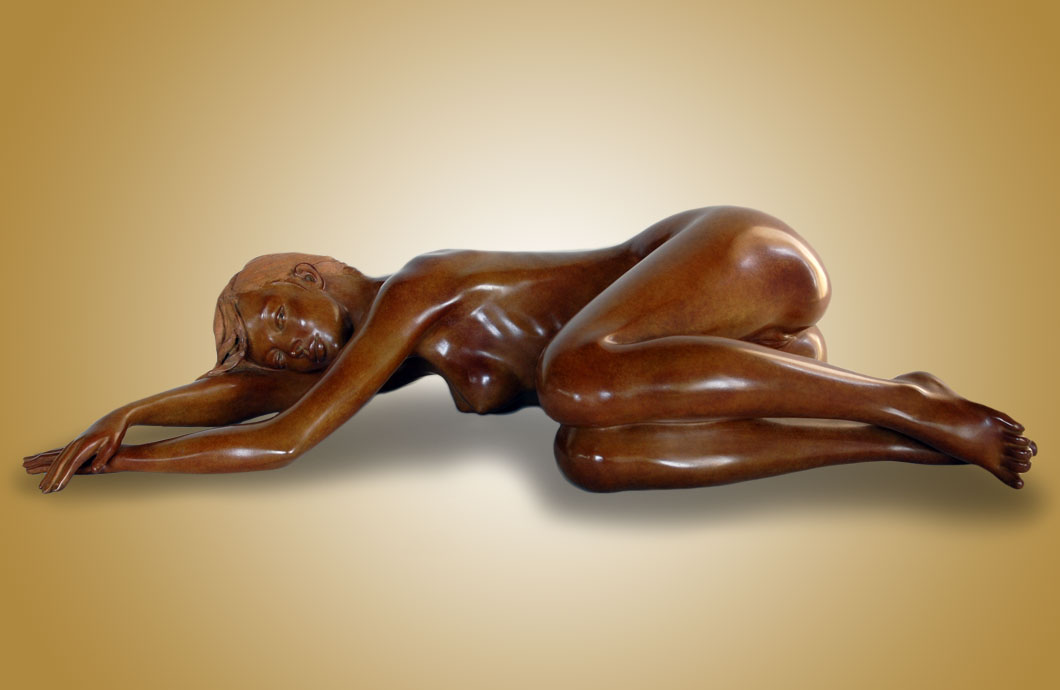En Douce sculpture en bronze