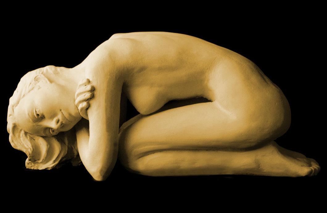 Inhibition sculpture en bronze