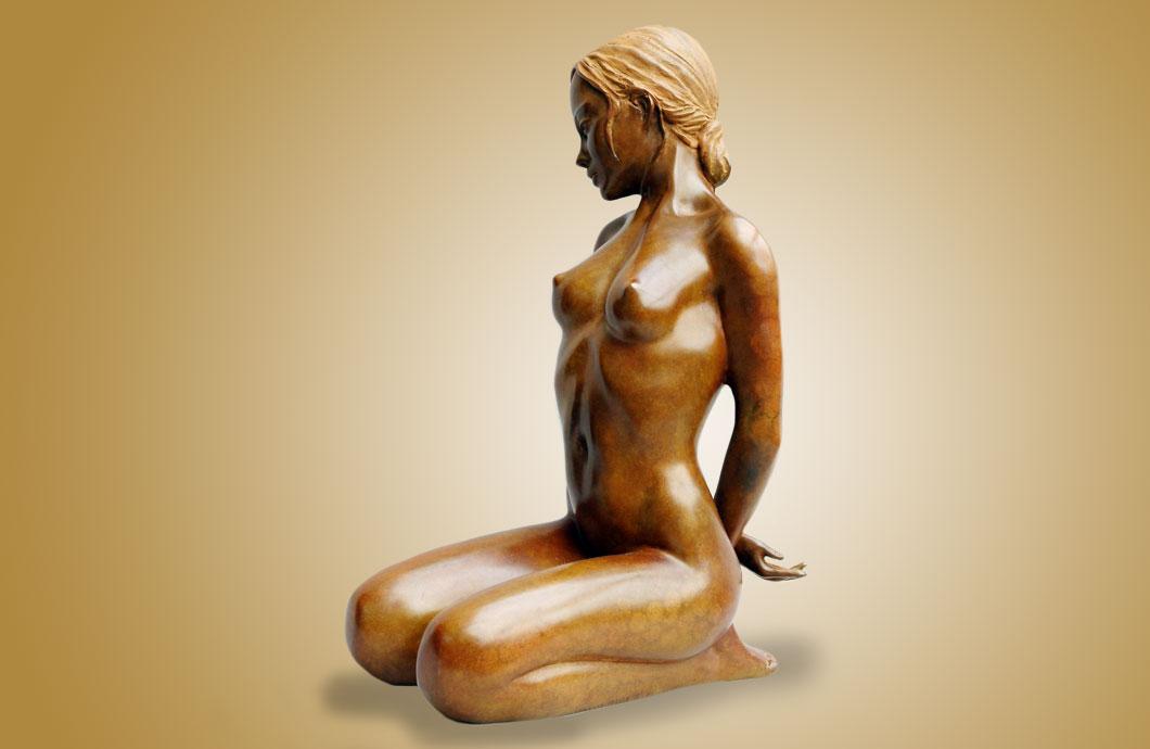 Jeu Interdit sculpture en bronze