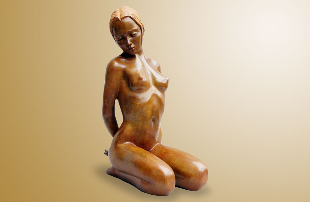 Jeu Interdit sculpture en bronze