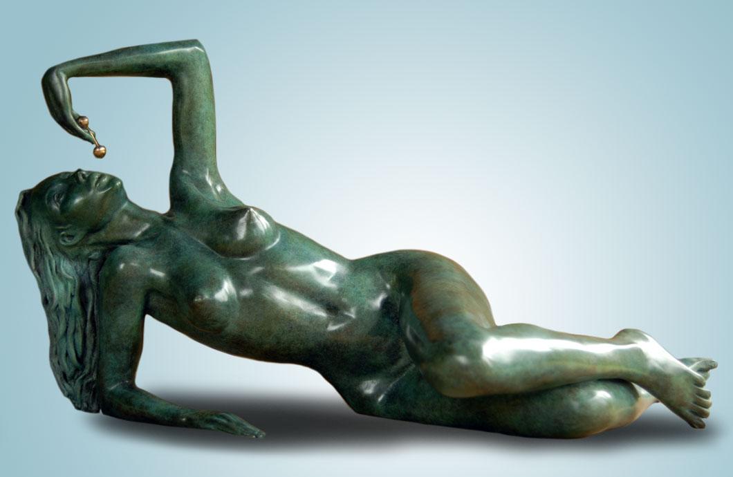 Le Temps des Cerises sculpture en bronze
