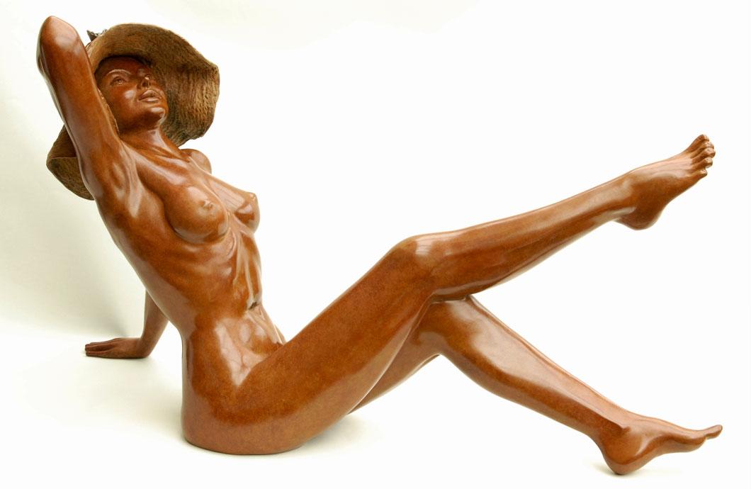 L'Été sculpture en bronze