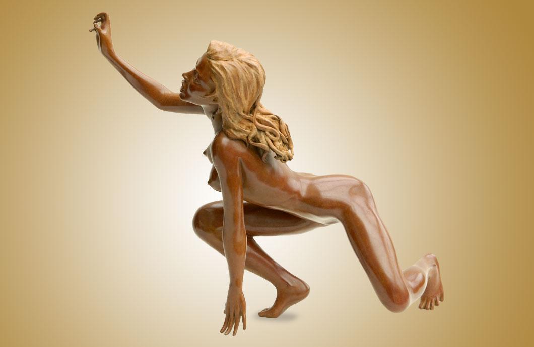 La Colère sculpture en bronze