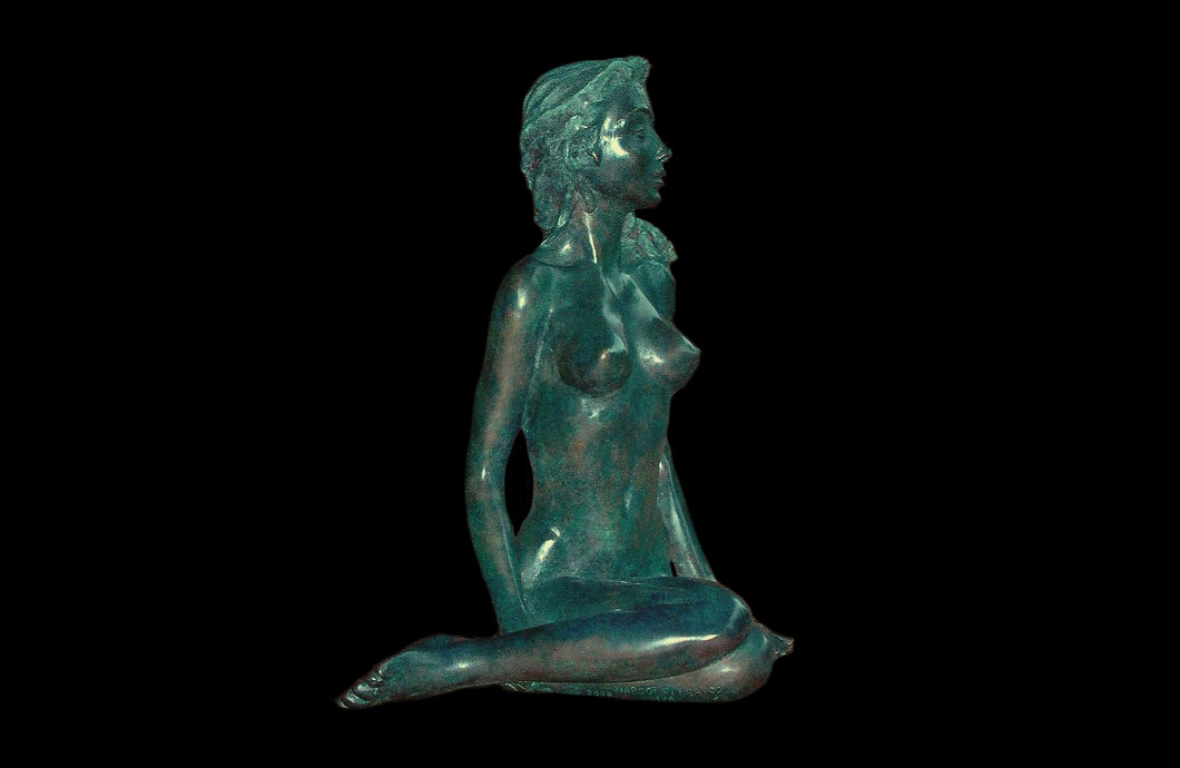 Brise sculpture en bronze