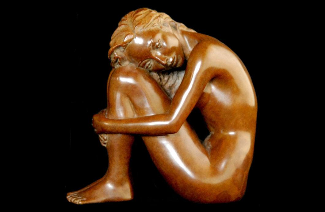 Cocoon sculpture en bronze