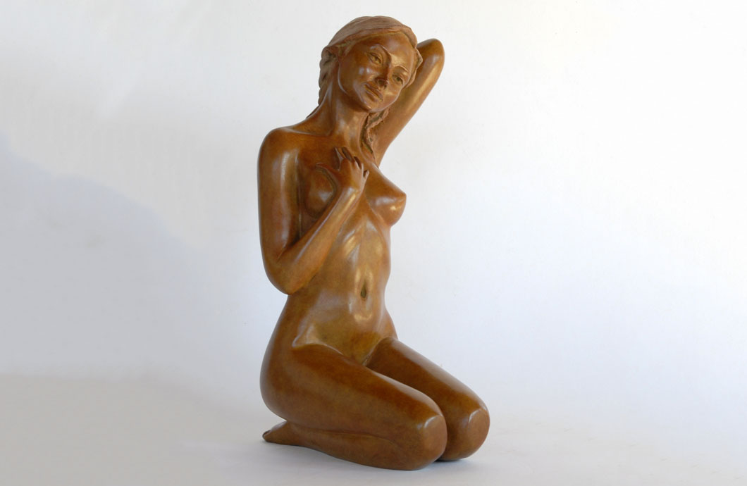 Douce sculpture en bronze