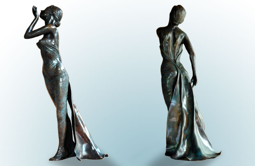Fragrance sculpture en bronze
