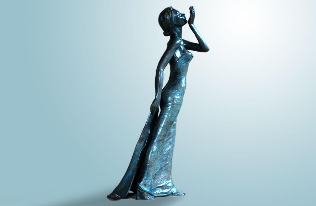 Fragrance sculpture en bronze