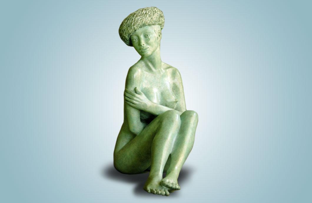 L'Hiver sculpture en bronze