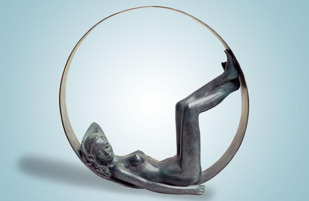 La Paresse (La Bulle) sculpture en bronze