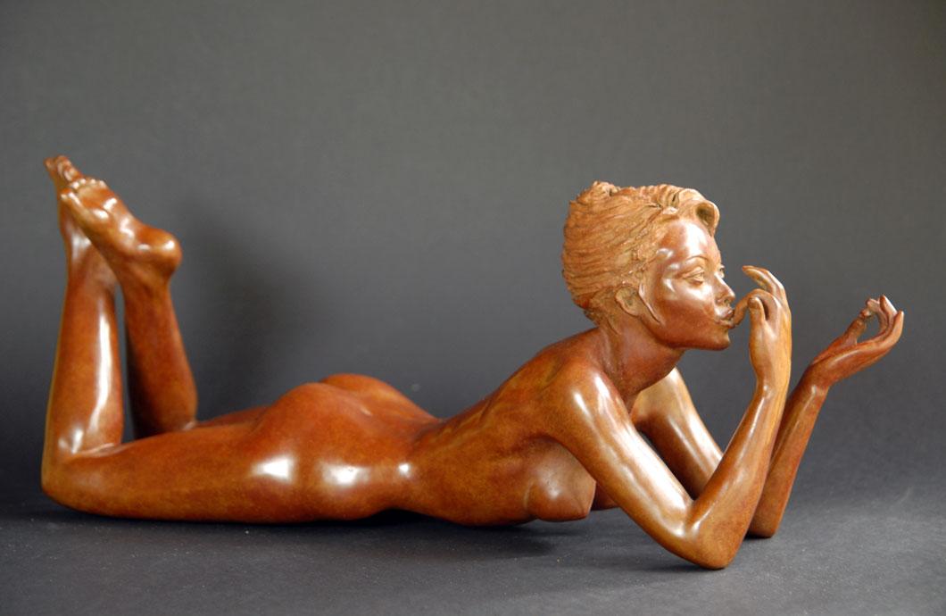La Gourmandise sculpture en bronze