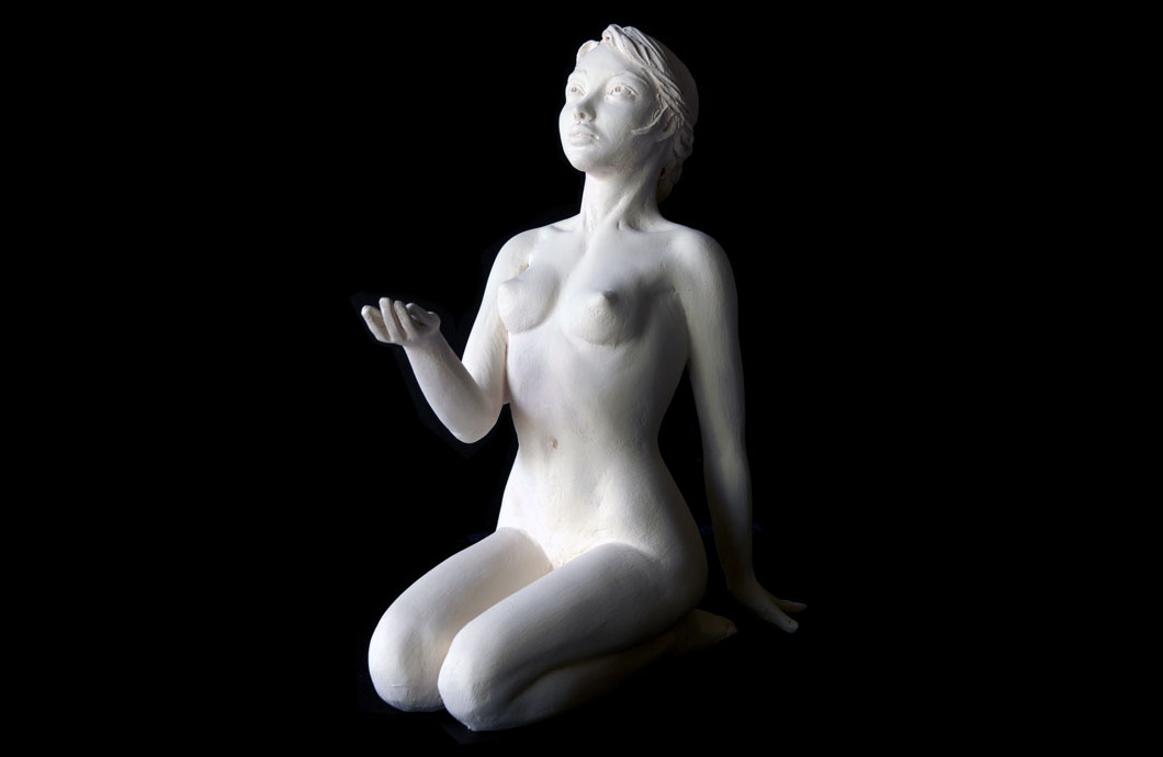 La Mendiante sculpture en bronze