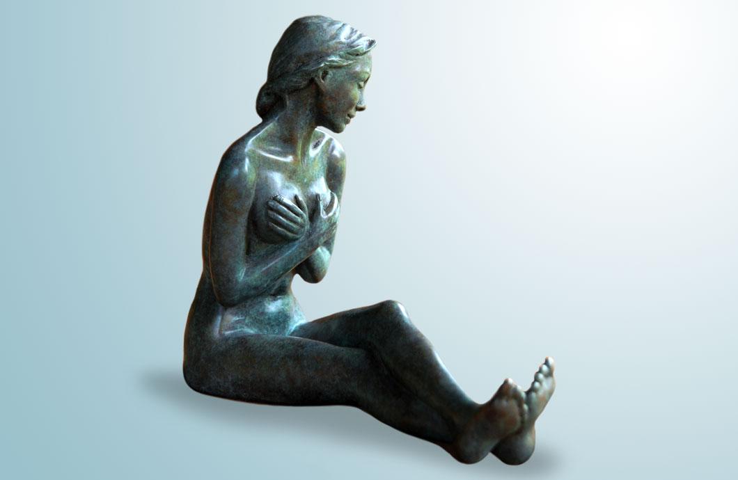 La Pudique sculpture en bronze