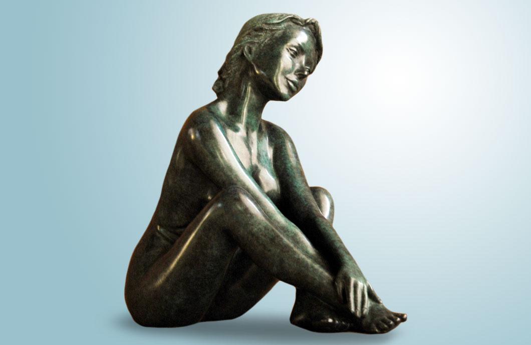 Rondo sculpture en bronze
