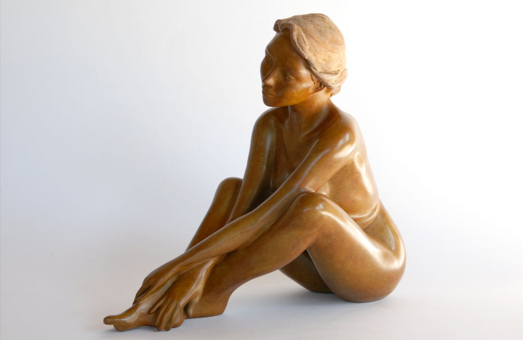 Rondo sculpture en bronze